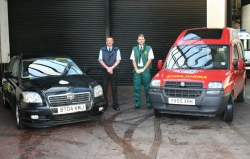 Some of our Team with Vehicles